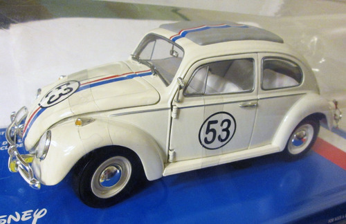 johnny lightning, herbie the love bug, volkswagen e: 1/18