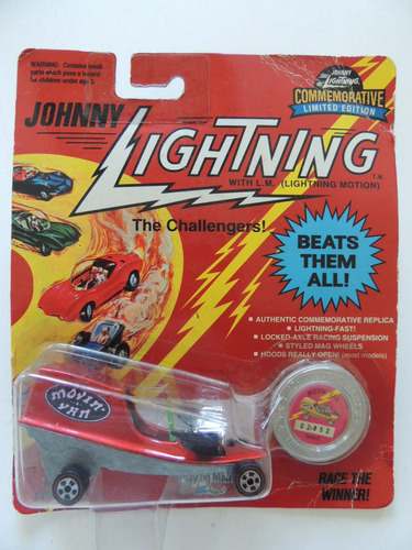 johnny lightning - movin van - cartela lacrada  (cc 4)
