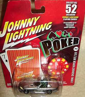 johnny lightning poker 1998 dodge viper rt10 (lacrado)