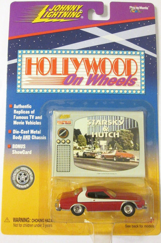 johnny lightning starsky & hutch ruedas de goma escala 1:64