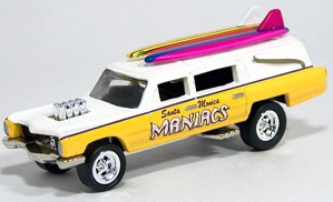johnny lightning surf rods haulin' hearse (lacrado)