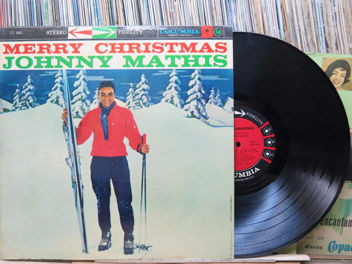 Johnny Mathis Merry Christmas Lp Columbia Importado Stereo - R$ 38 ...
