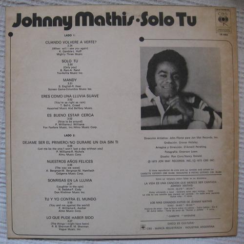 johnny mathis - sólo tú (cbs 19.486)