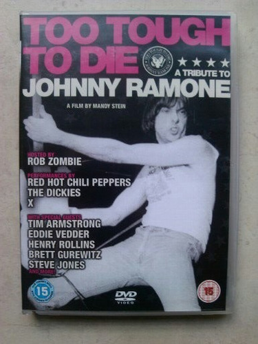 johnny ramone - too tough to die dvd raro ramones importado