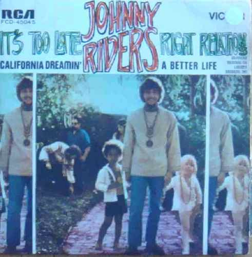 johnny rivers  compacto vinil it´s too late 1969 mono