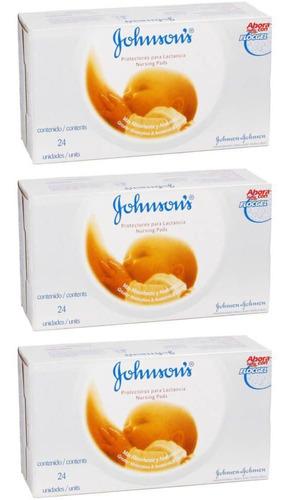 johnsons absorvente p/ seios c/24 (kit c/03)
