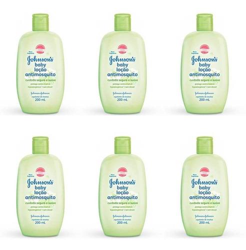johnsons anti mosquito loção hidratante 200ml (kit c/06)