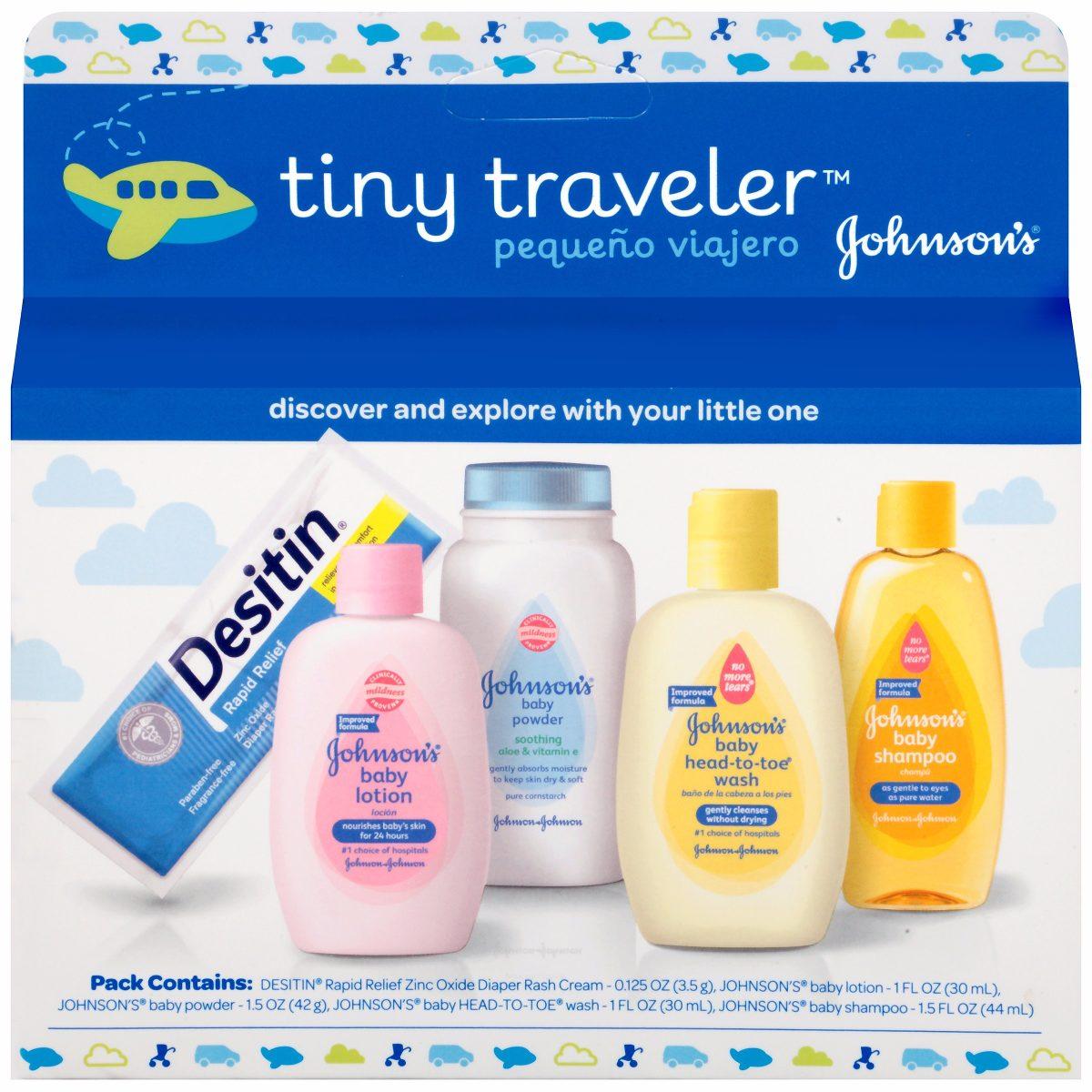 Johnson S Baby Kit Miniatura Com 5 Tinny Traveler R