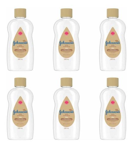 johnsons baby óleo amêndoas 200ml (kit c/06)
