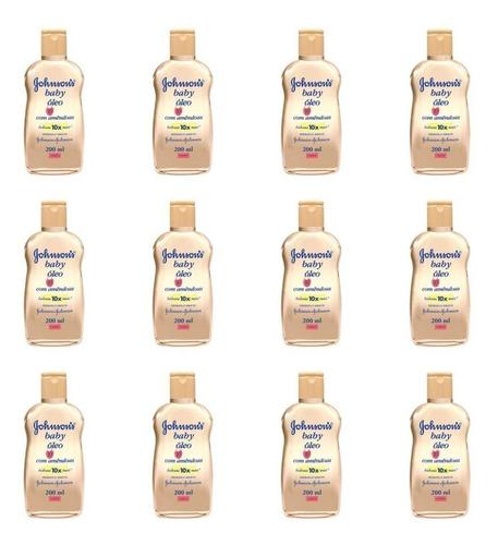 johnsons baby óleo amêndoas 200ml (kit c/12)