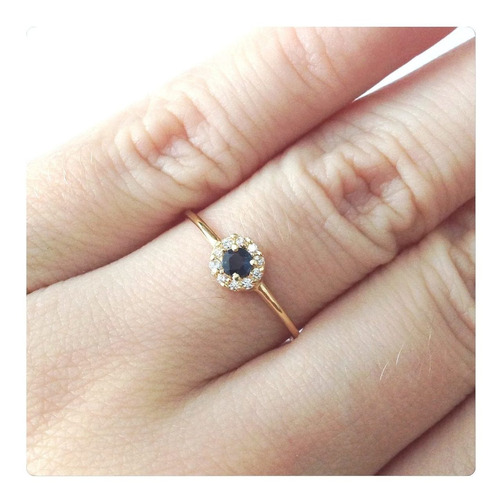 joia anel cor safira indiana ouro 18k maciço certificado