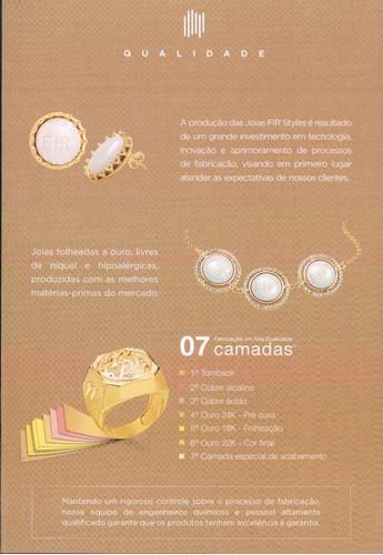 joia bracelete 65mm ouro nipponflex fir terapia
