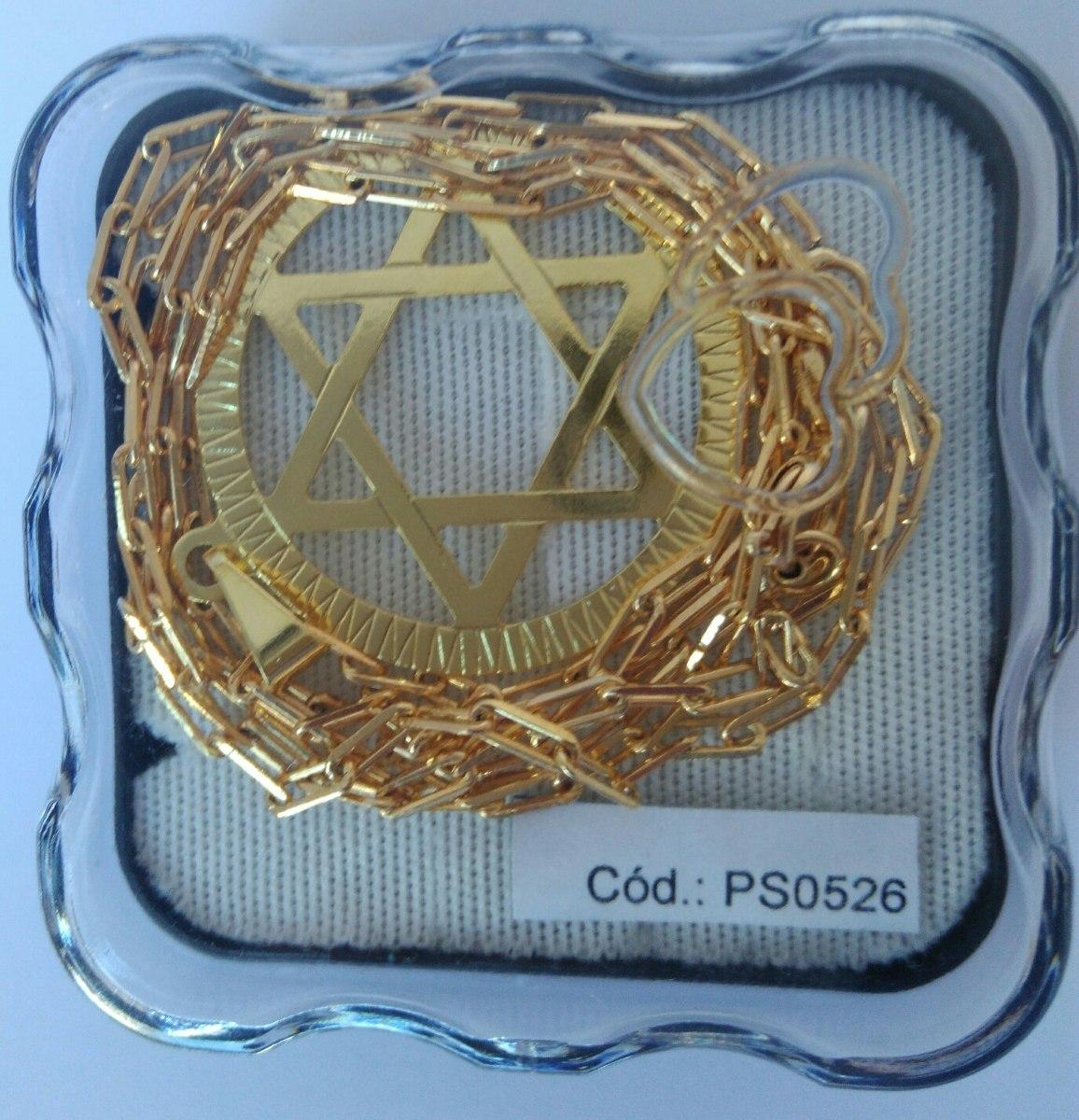 d838d5285bc joia cartier estrela de davi banhada ouro 18k 10ml de anti. Carregando zoom.