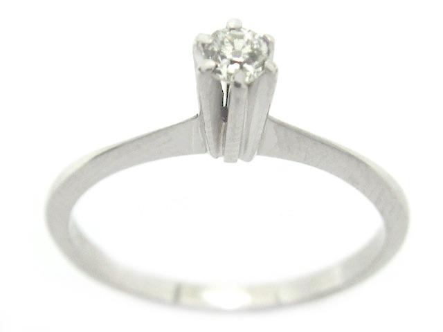 8ff210391007f Joianete A9117-01804 Solitário Ouro Branco Diamante 7pts - R  415