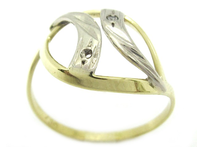 6fca673133c9c Joianete A9120-00098 Anel Arco Ouro Dois Tons Diamantes - R  399,79 ...