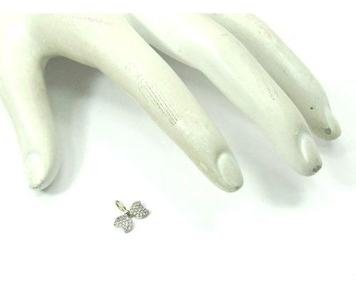 joianete e9017-10163 pingente borboleta ouro branco zirconea
