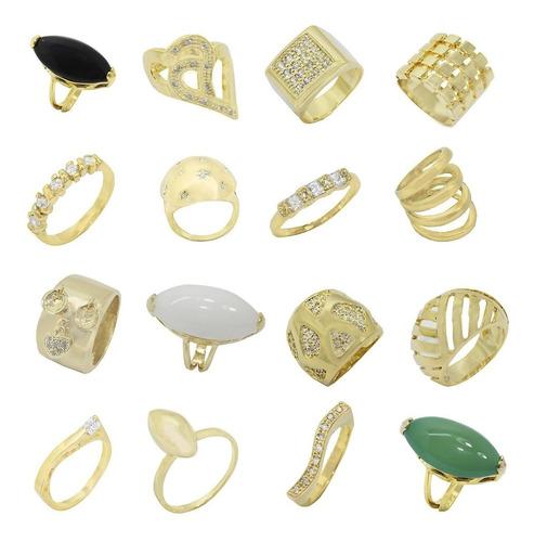 jóias folheadas kit 50 anéis luxo+50 brincos atacado revenda