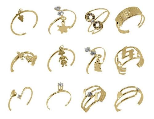 joias folheadas kit com 8 anéis 8 pulseiras 8 gargantilhas