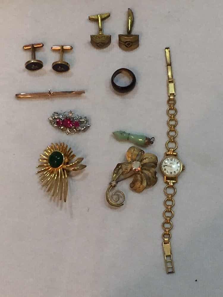 90b7951812b jóias lote abotoadura maçonaria relógio bijuterias antigos. Carregando zoom.
