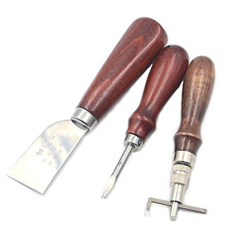 joinor 18pcs cuchillo de cuero carft herramientas kit de...