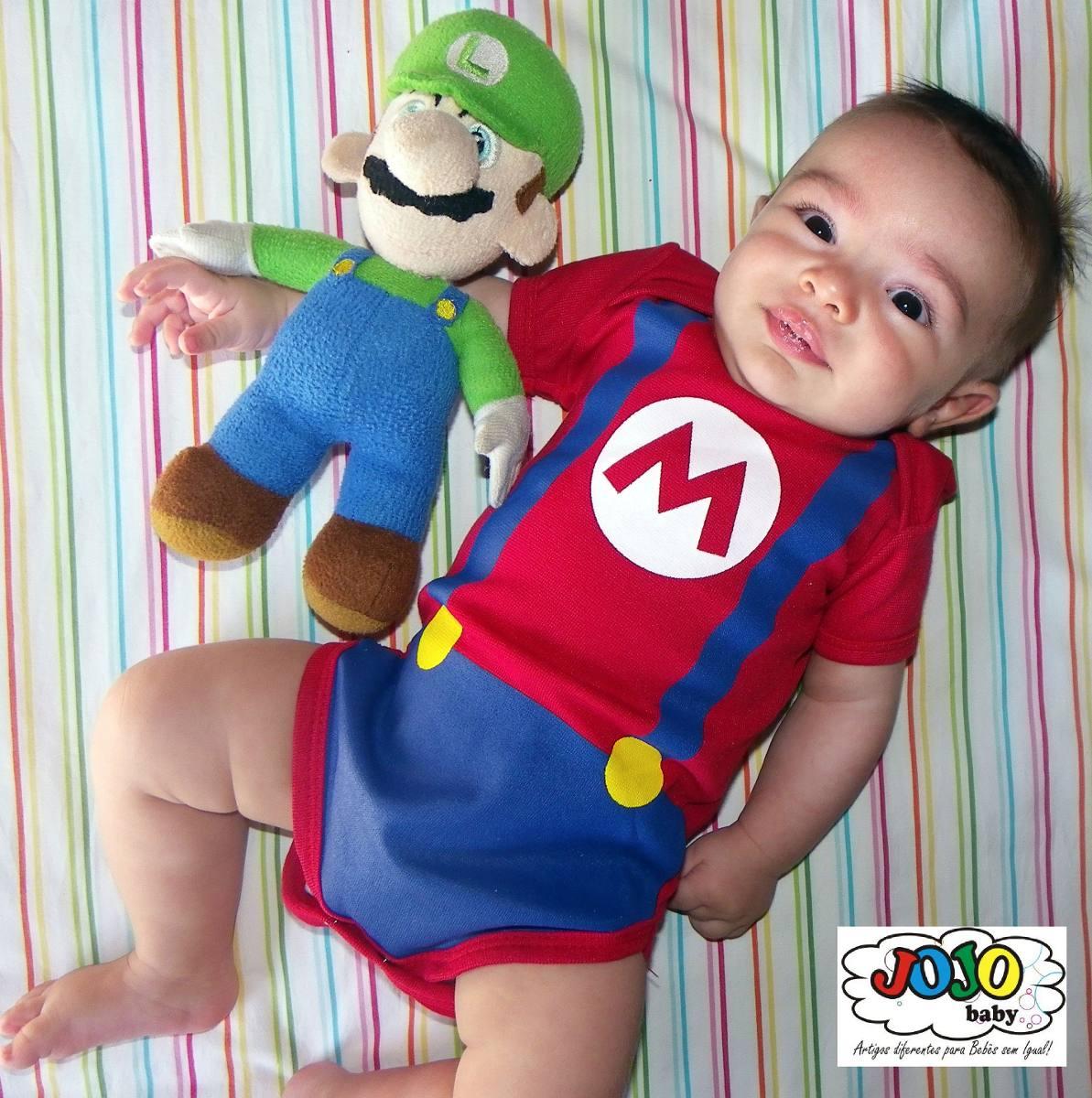 jojo baby - body fantasia bebê super mário bros. Carregando zoom. 5f1981b7ad1