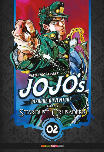 jojo's bizarre stardust crusaders 1 ao 3 panini novo lacrado