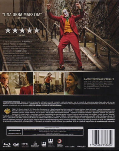 joker guason dc joaquin phoenix pelicula blu-ray + dvd