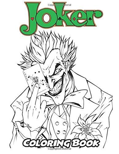 Joker Libro De Colorear Libro De Colorear Para Niños Y Adul
