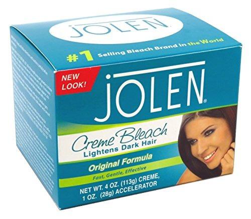 jolen creme bleach regular aliviana exceso el pelo más oscur