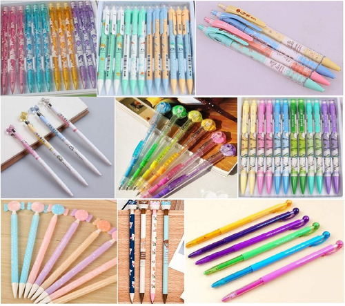 jollin 12 lápices mecánicos kawaii corea lindo con goma de b