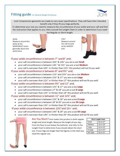 jomi surgical collection 272, medias de compresión de pes