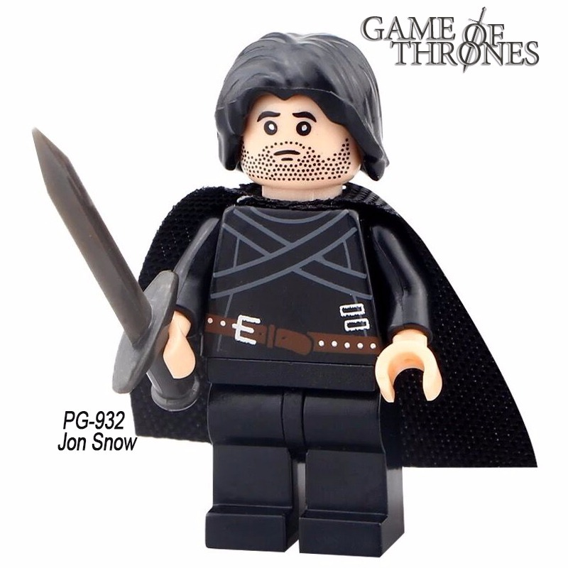 Jon Snow Game Of Thrones Lego Filme Desenho Serie Miniatura R