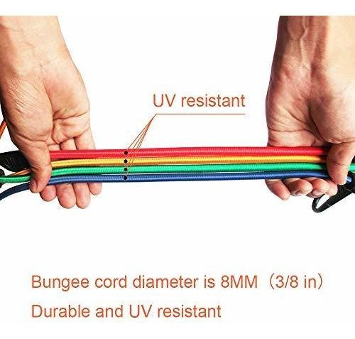 joneaz   cuerda elástica para toldo de 5.9in resistente a l