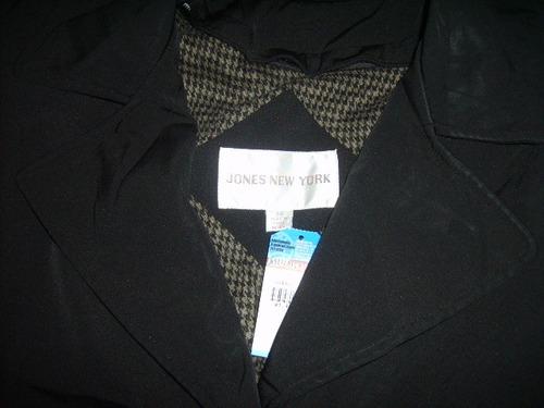 jones new york, abrigo gabardina xl, nuevo,  envio gratis
