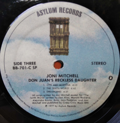 joni mitchell - don juan´s reckless daughter - vinilo