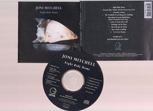 joni mitchell  - night ride home -  cd - by maceo