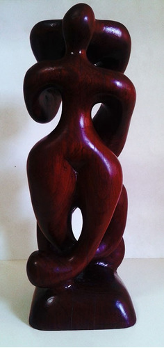joão chetto - escultura em madeira lavrada assinada - lenach