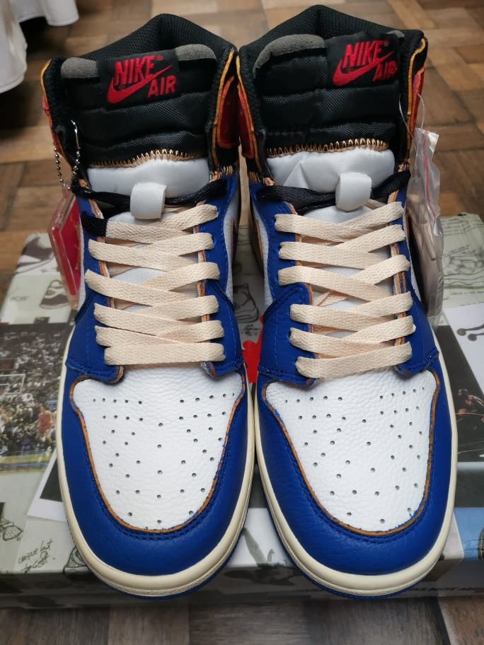 info for c633a d04e2 jordan 1 retro high union los angeles blue toe. Cargando zoom.