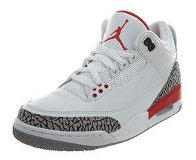 Jordan Air 3 Retro Para Hombre Blanco Fuego Rojo cemento G