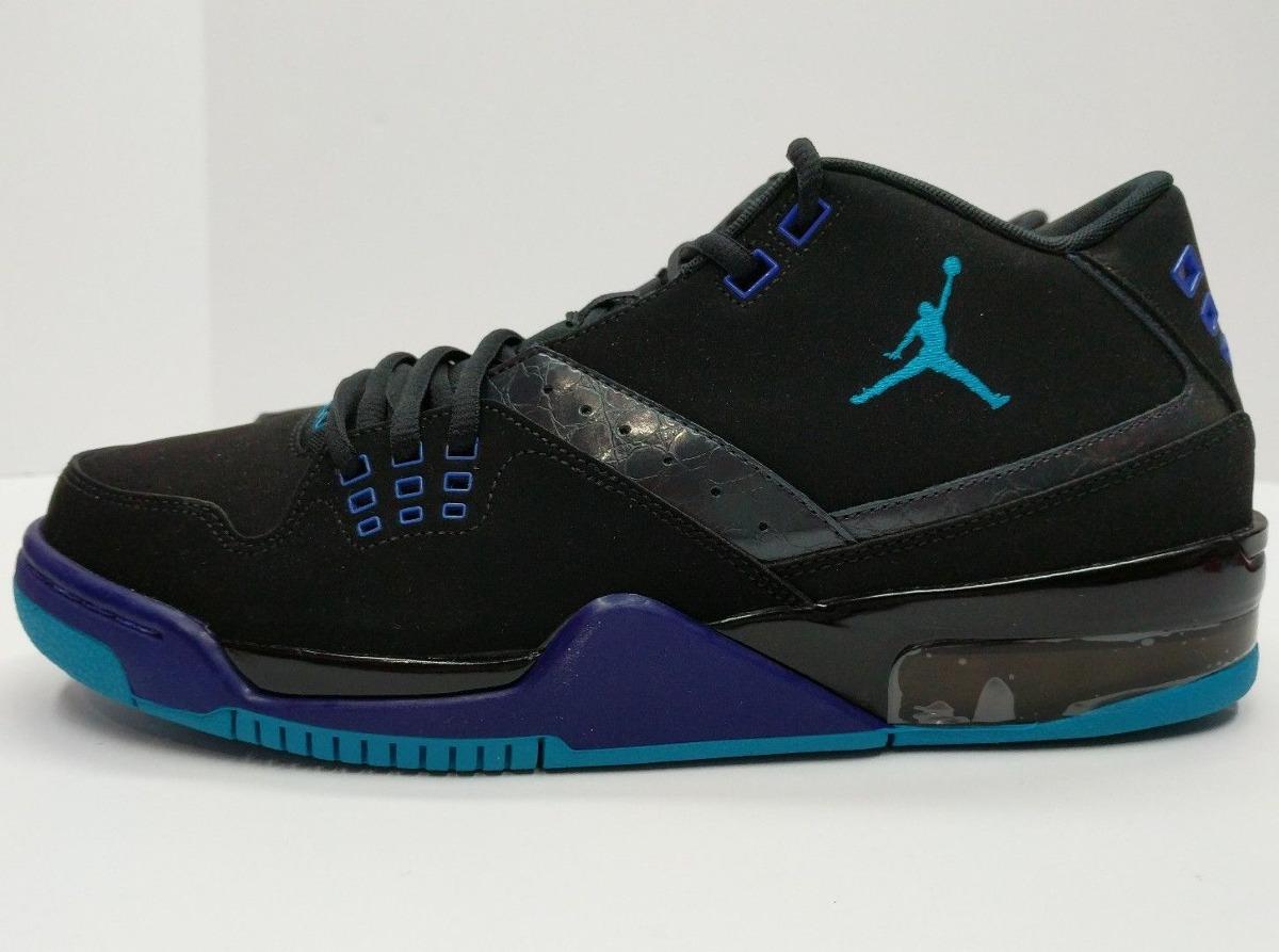 Jordan Flight 23 Mens Black Blue Purple 317820 013 Nike Sne