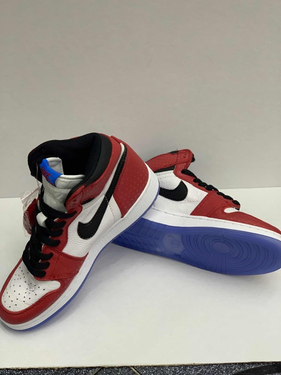 reunirse aliexpress diseño popular Jordan Retro 1 Spiderman Man !!!! - $ 2,699.00 en Mercado Libre
