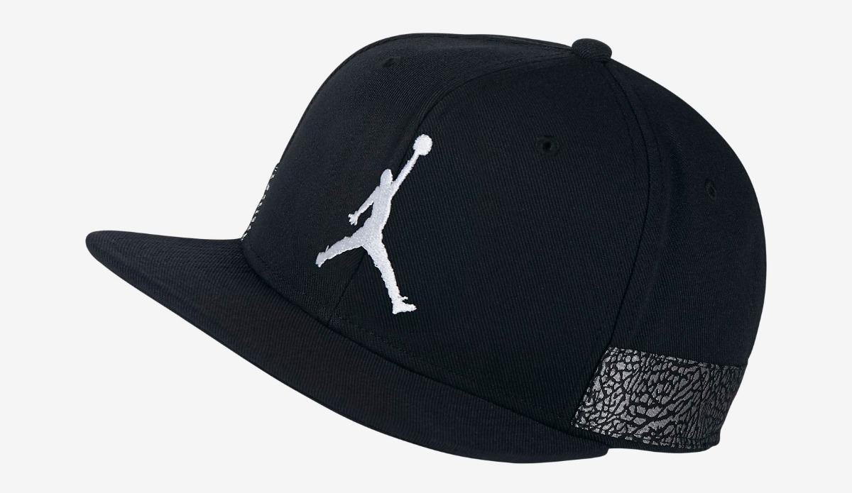jordan retro 3 black cement snapback cap. Cargando zoom. b7db0a3337e