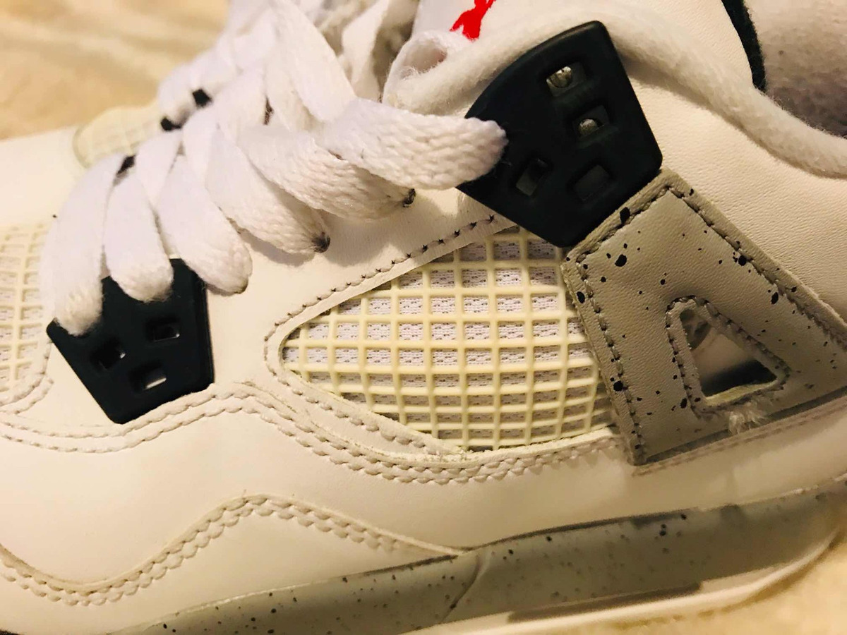 low cost f0826 2d847 jordan retro 4 white cement   23 swag side. Cargando zoom.