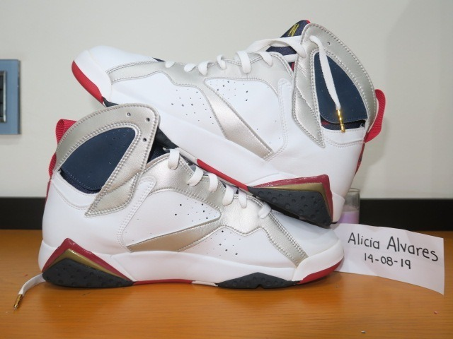 buy online 1ea57 569d3 Jordan Retro 7 White Mt Gold-mn Navy True Red 304775 171