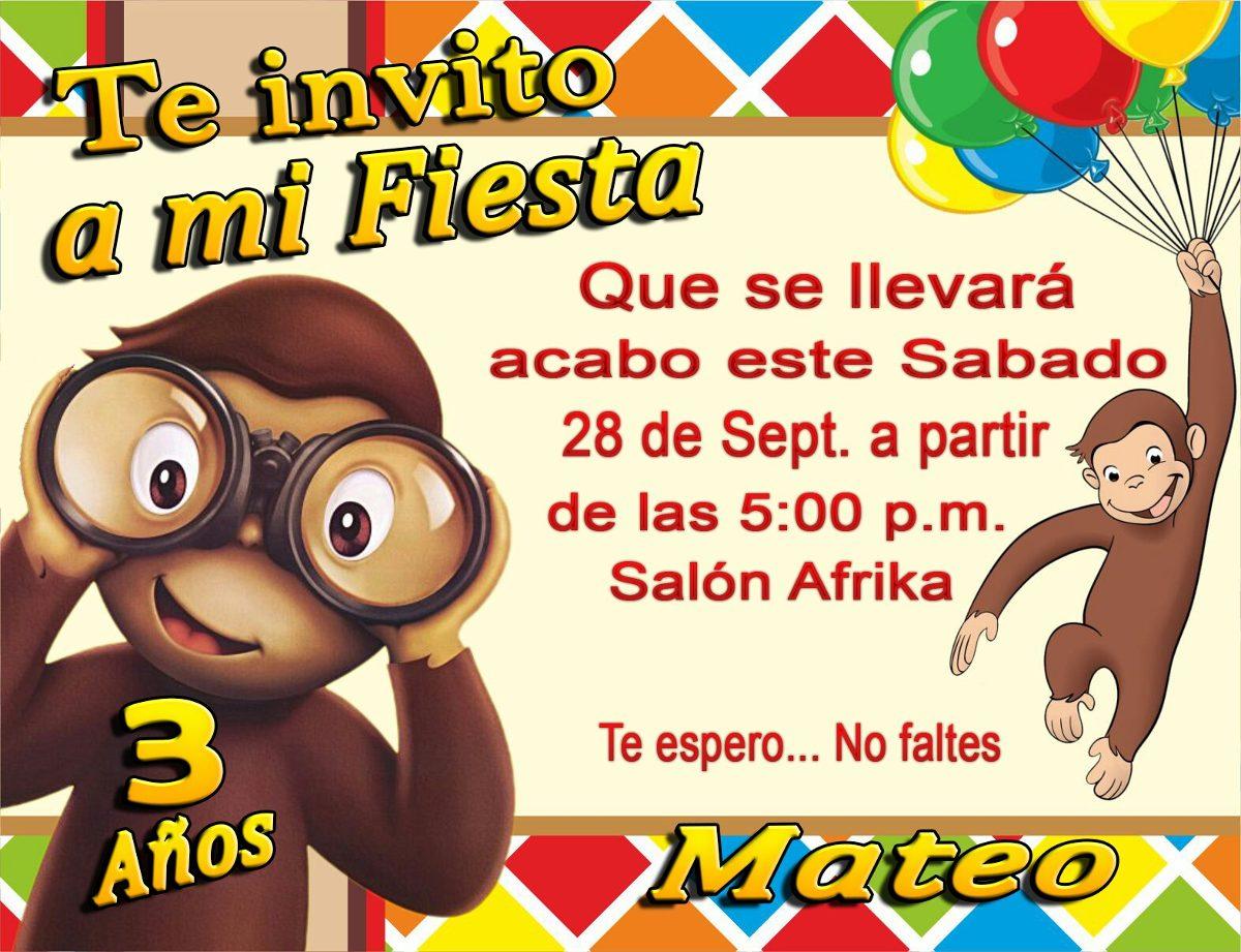 Jorge El Curioso Tarjetas Para Cumpleaños Preciosas $ 65,00 en Mercado Libre