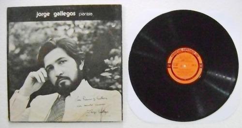 jorge gallegos /  pianista  1 disco  lp  vinil