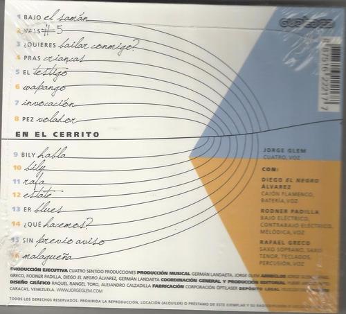 jorge glem. en el cerrito. cd nuevo original