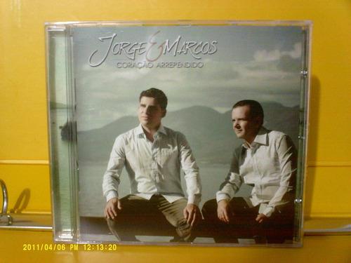 jorge & marcos - coração arrependido - cd