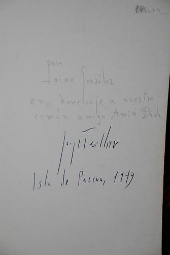 jorge teillier muertes y maravillas autografiado y dedicado