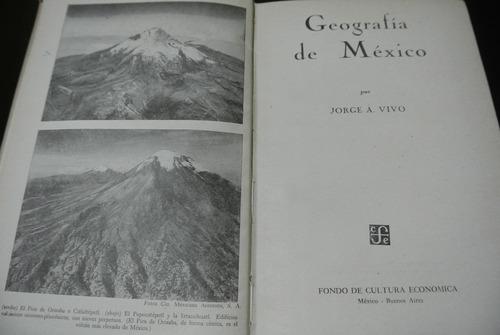 jorge vivó, geografía de méxico, fce